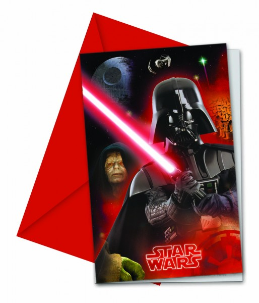 Einladungskarte Star Wars 6 Stück
