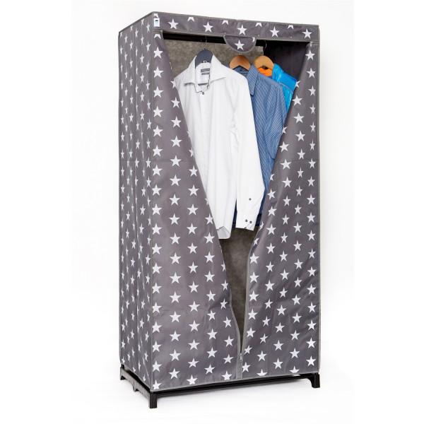 Urban Stars - Textiler Kleiderschrank - grau mit weißen Sternen