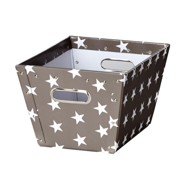 Korb Ajax - Dunkelgrau mit weißen Sternen - Größe S