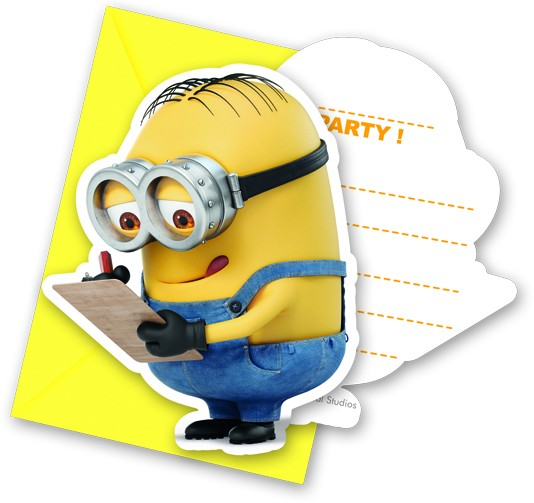 Einladungskarten Minions Lovely 6 Stück