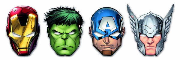 Masken Avengers 6 Stück