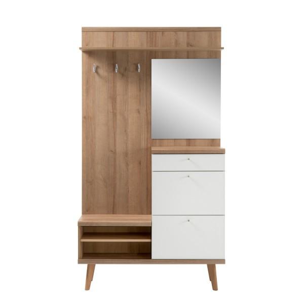 Garderobe Merle - Skandinavisches Design - Eiche Riviera
