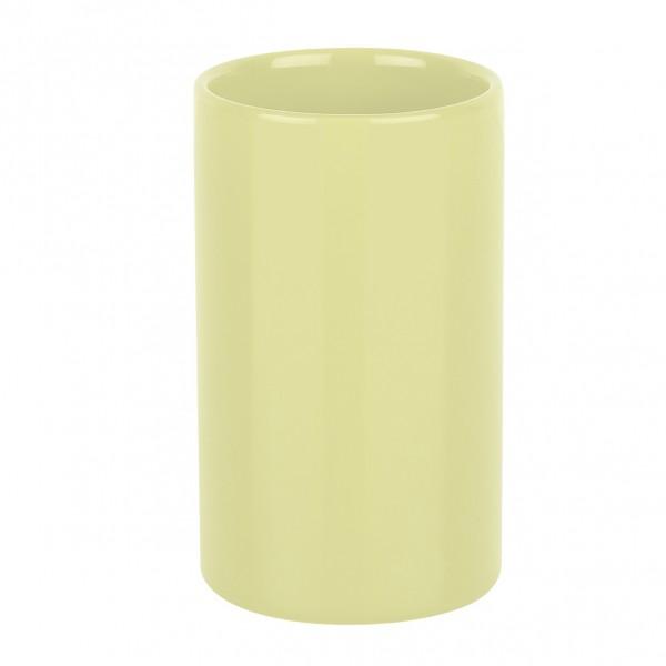 Zahnputzbecher Tube - light-gelb