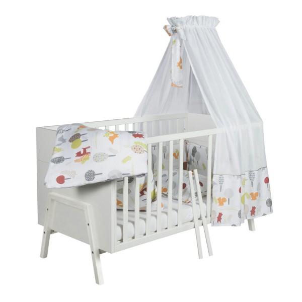 Holly White - Kombi-Kinderbett 70 x 140cm - Dekor weiß