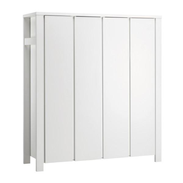 Milano Weiß - Kleiderschrank 4-türig - Weiß lackiert