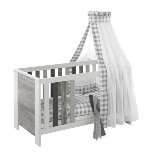Baby-Bettwäsche - 4-teiliges Set Design Vichy Grey