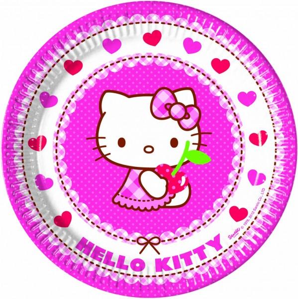 Pappteller Hello Kitty 8 Stück Ø 23cm