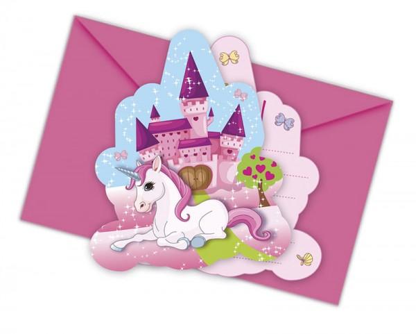 Einladungskarten Einhorn 6 Stück