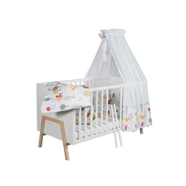 Holly Nature - Kombi-Kinderbett 70 x 140cm - Dekor weiß - Buche