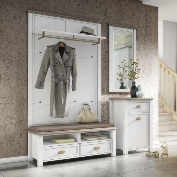 Garderoben-Set Chateau - Weiß Landhaus - Variante I   Möbel Stellbrink