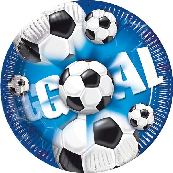 Pappteller Fußball 10 Stück Ø 20cm