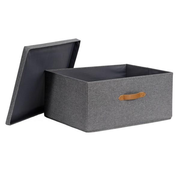 Store It Pico Mundo Ordnungsbox grau weißer Stern Aufbewahrungsbox mit Deckel
