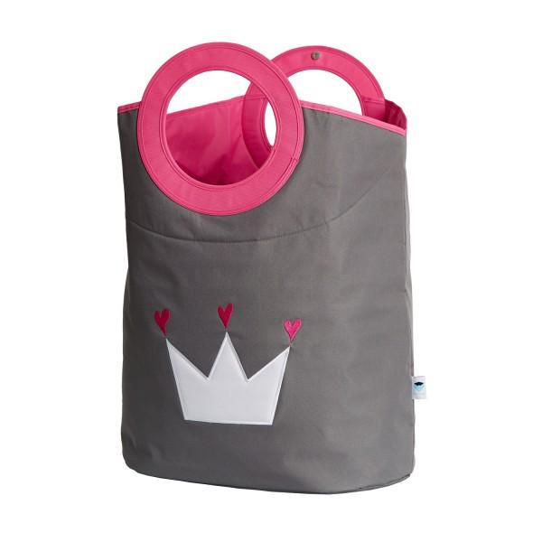 Urban Stars - Wäschetasche - grau mit Krone