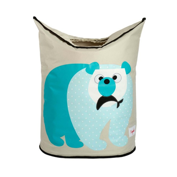 3 Sprouts - Wäschekorb Eisbär