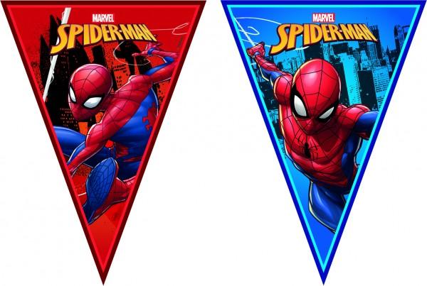 Wimpelgirlande Spiderman 230cm