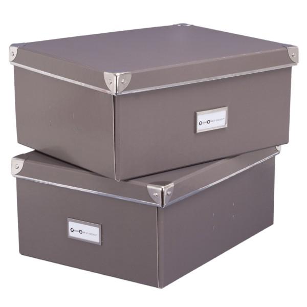 2er Set Universalbox - Mika - grau