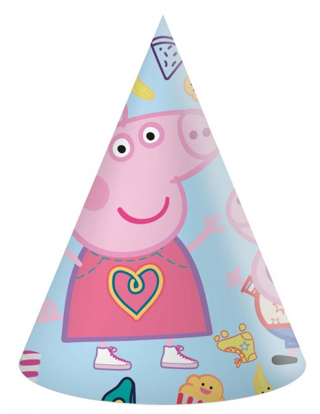 Partyhut Peppa Pig 6 Stück