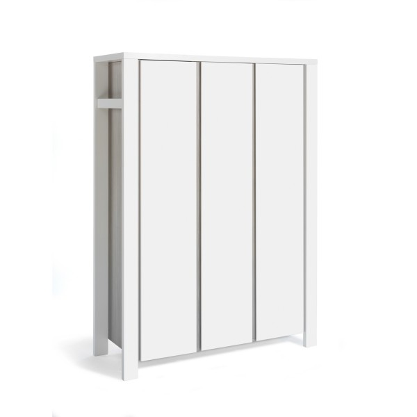 Milano Pinie - Kleiderschrank 3-türig - Dekor Pinie Silber