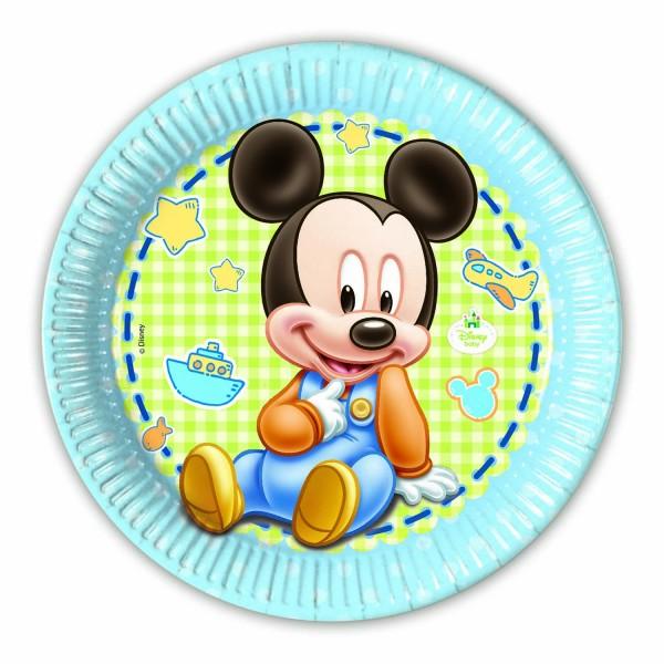 Pappteller Baby Mickey 8 Stück Ø 23cm