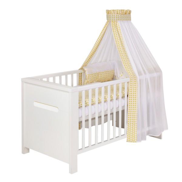 Poppy White - Kombi-Kinderbett 70 x 140cm - Dekor Weiß