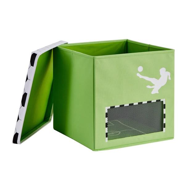 Pico Mundo - Spielzeugkiste XL mit Tor - Fußball - Grün