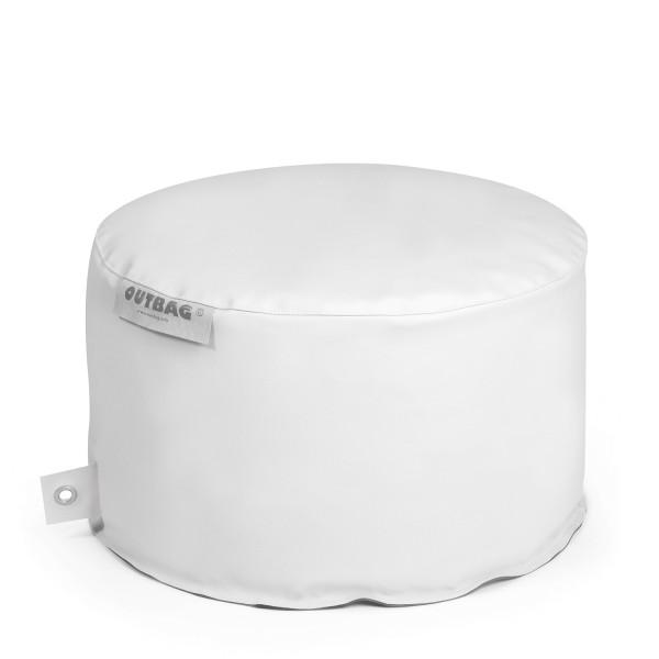 Outbag - Outdoor Sitzsack - Hocker Rock - Bezug Light Weiß - wetterfest