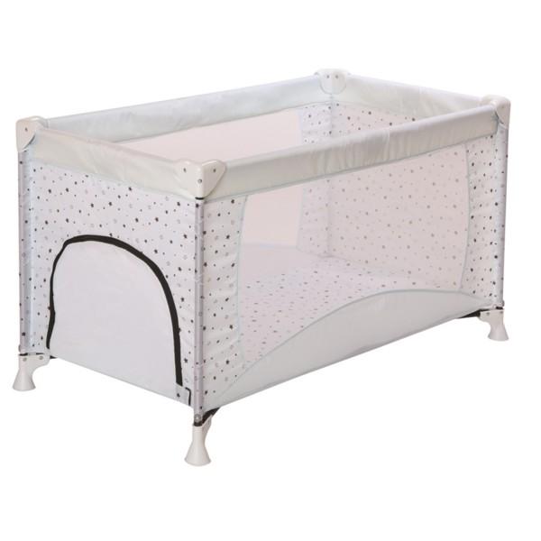 Babyreisebett inkl. Tragetasche - Polyester - Design Sternchen Icy White