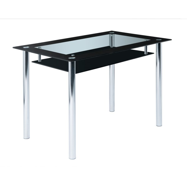 Glastisch schwarzglas  Glastisch Christin - Schwarzglas - Chromgestell | Möbel Stellbrink
