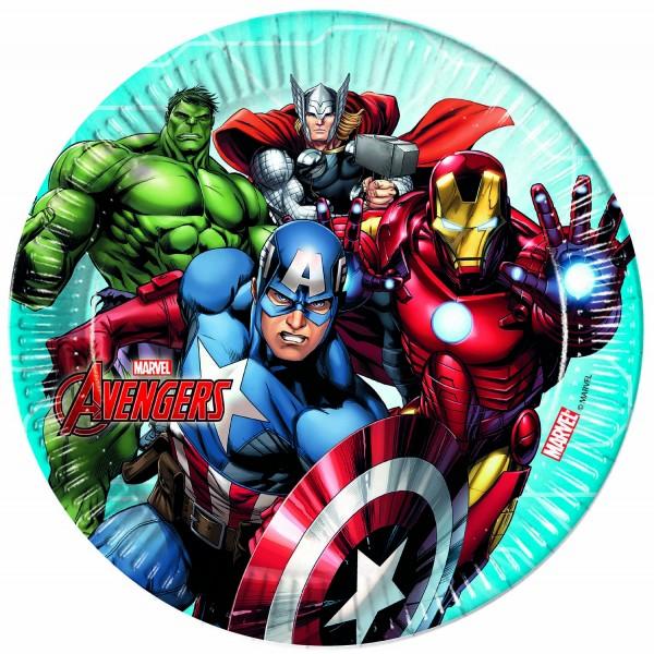 Pappteller Avengers 8 Stück Ø 23cm