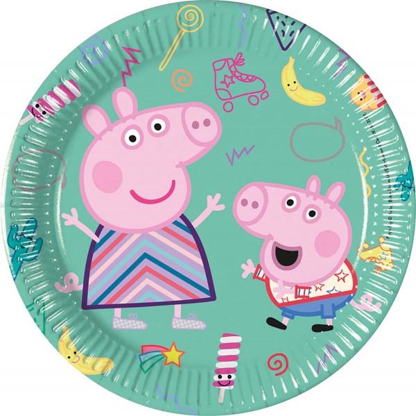 Pappteller Peppa Pig 8 Stück Ø 20cm