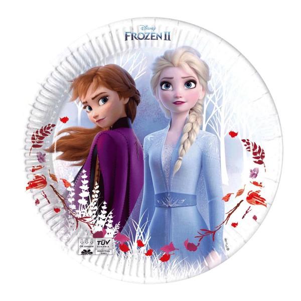 Pappteller Frozen II 8 Stück Ø 20cm