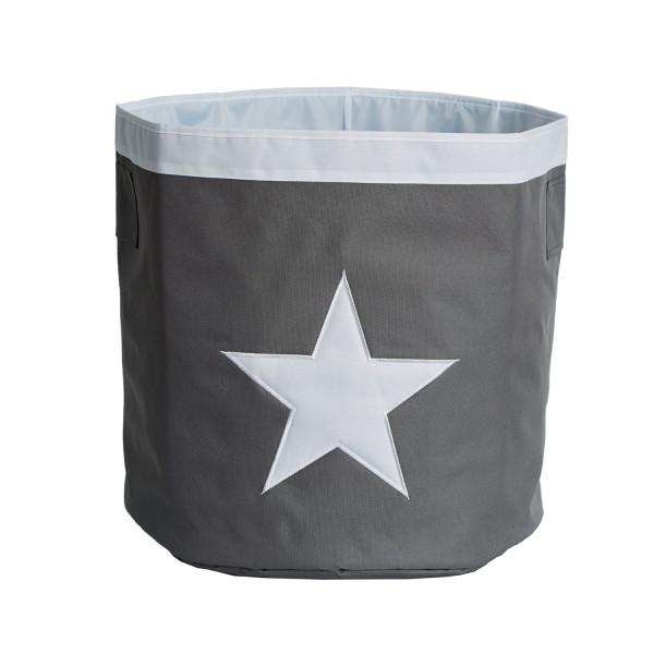 Urban Stars - Aufbewahrungskorb - Maxi - grau mit weißem Stern - grau weiß