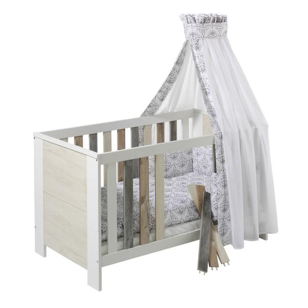 Woody - Kombi-Kinderbett 70 x 140cm - Dekor Mix