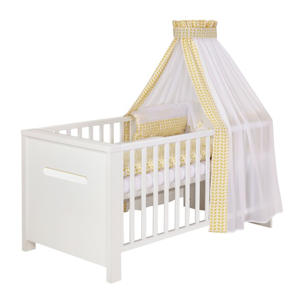 Baby Bettwäsche 4 Teiliges Set Design Lovely Birds Gelb Möbel