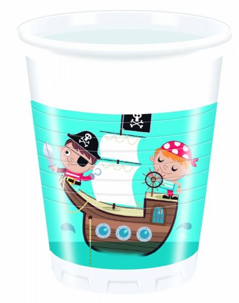 Trinkbecher Piraten 8 Stück