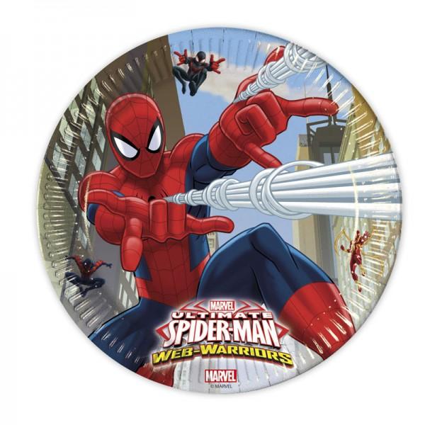Pappteller Spiderman 8 Stück Ø 23cm
