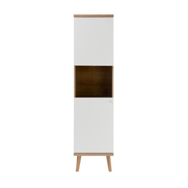Vitrine Merle - Skandinavisches Design - Eiche Riviera