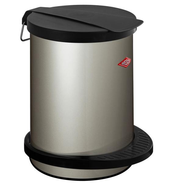 Wesco Mülleimer - 13 Liter - Neusilber