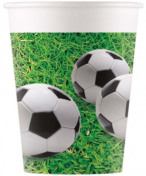 Trinkbecher Fußball 8 Stück