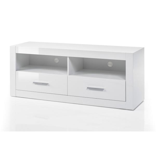 Kleines Lowboard Bianco - Weiß Hochglanz