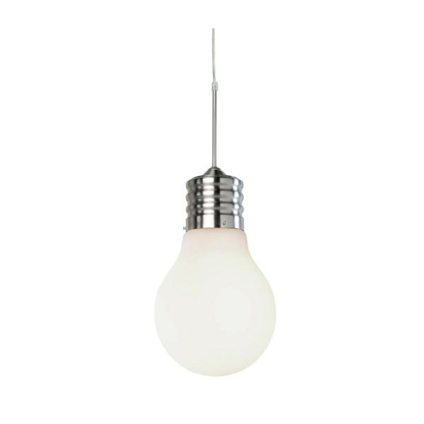 Luce - Pendelleuchte - 1-flammig - Nickel - weiß