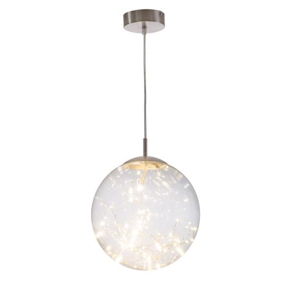 Lights - LED Pendel 1-flammig - Nickel - Glas klar mit LED