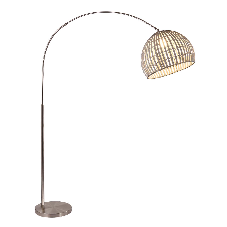 Nino Stehleuchte Canvas Stehlampe Geflecht Grau Mobel Stellbrink