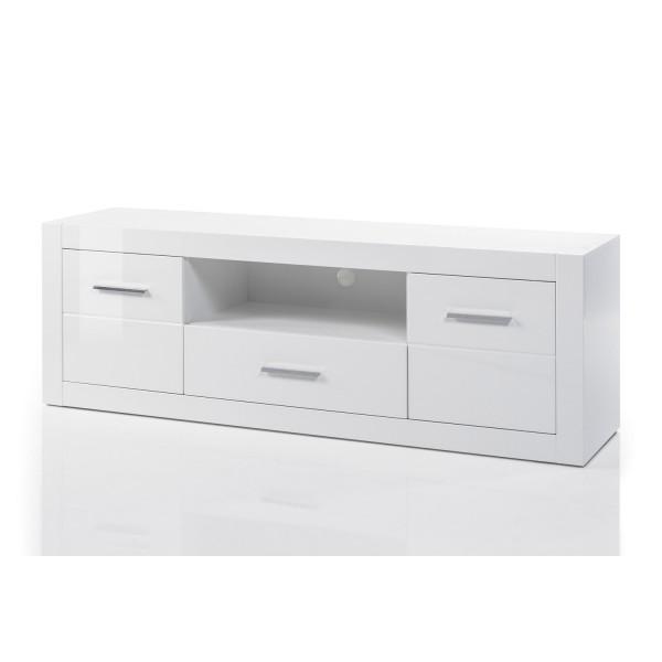 Großes Lowboard Bianco - Weiß Hochglanz