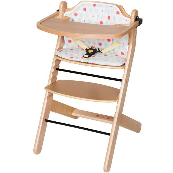 Best - Hochstuhl zum Kinderstuhl umbaubar - aus massivem Buchenholz - natur lackiert