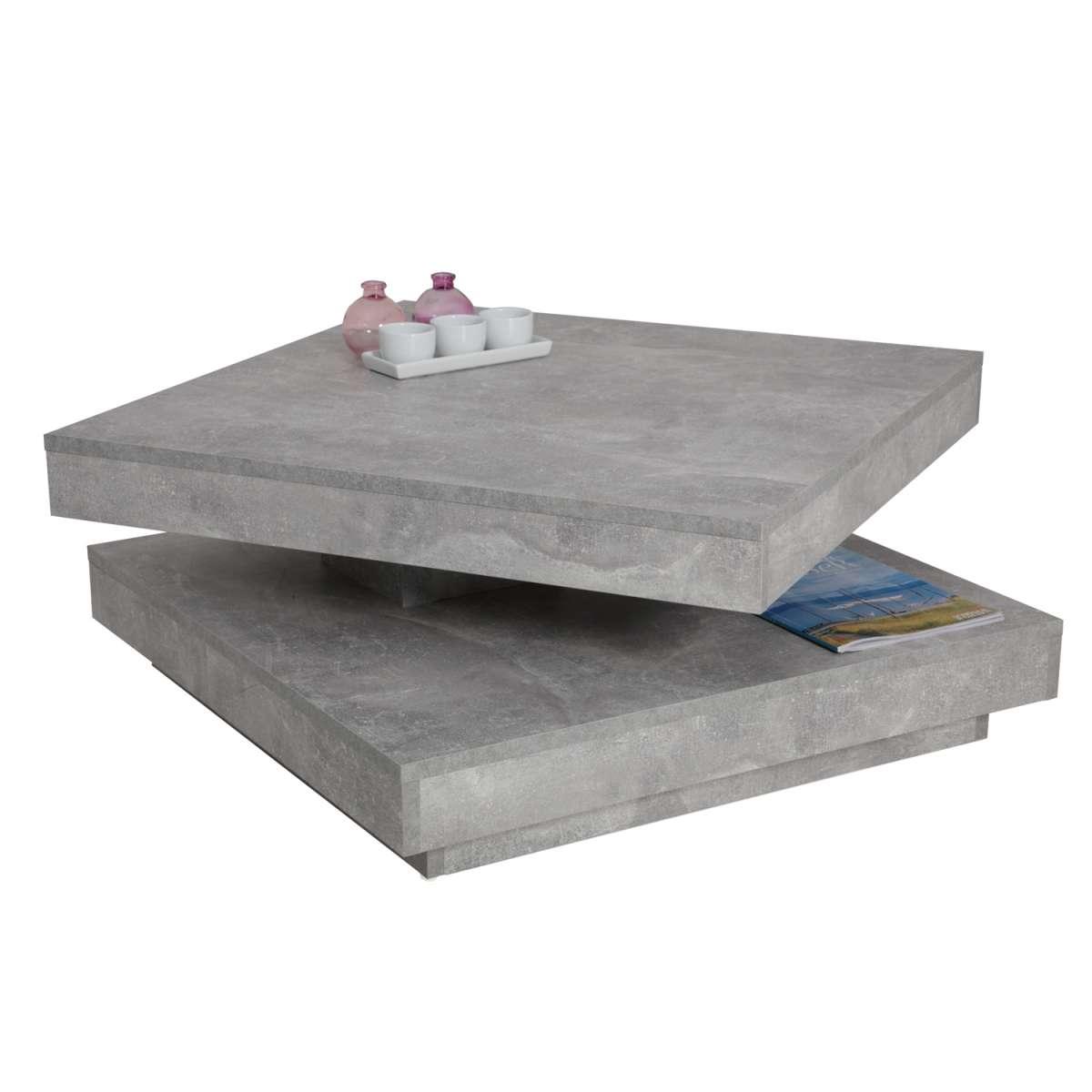 couchtisch in moderner beton optik zement wohnzimmertisch 110x70cm smash. Black Bedroom Furniture Sets. Home Design Ideas
