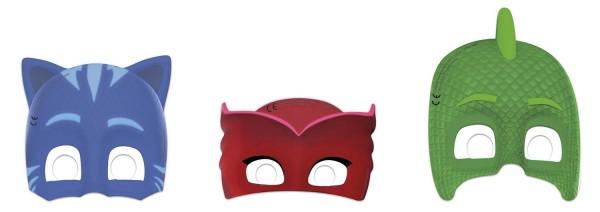 Masken PJ MASKS 6 Stück