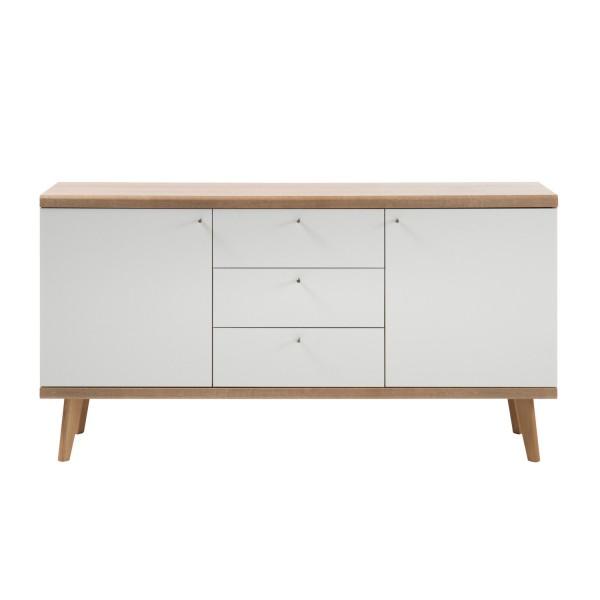 Sideboard Merle - Skandinavisches Design - Eiche Riviera