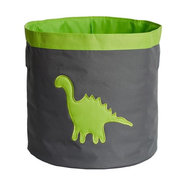 Urban Stars - Aufbewahrungskorb - Maxi - grau mit grünem Dino - grau grün