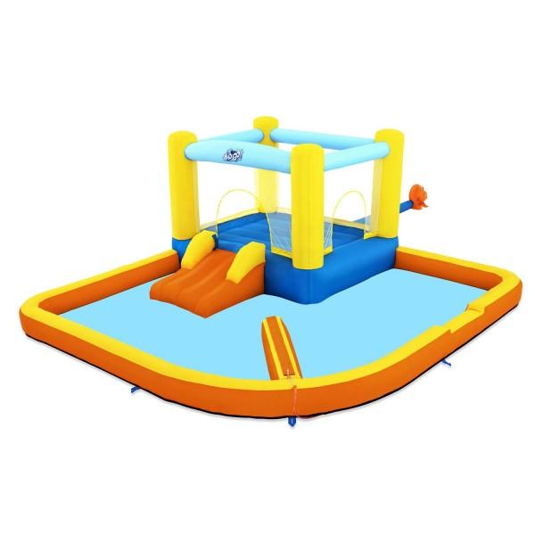 H2OGO!™ Wasserpark Beach Bounce mit Dauergebläse 365 x 340 x 152 cm